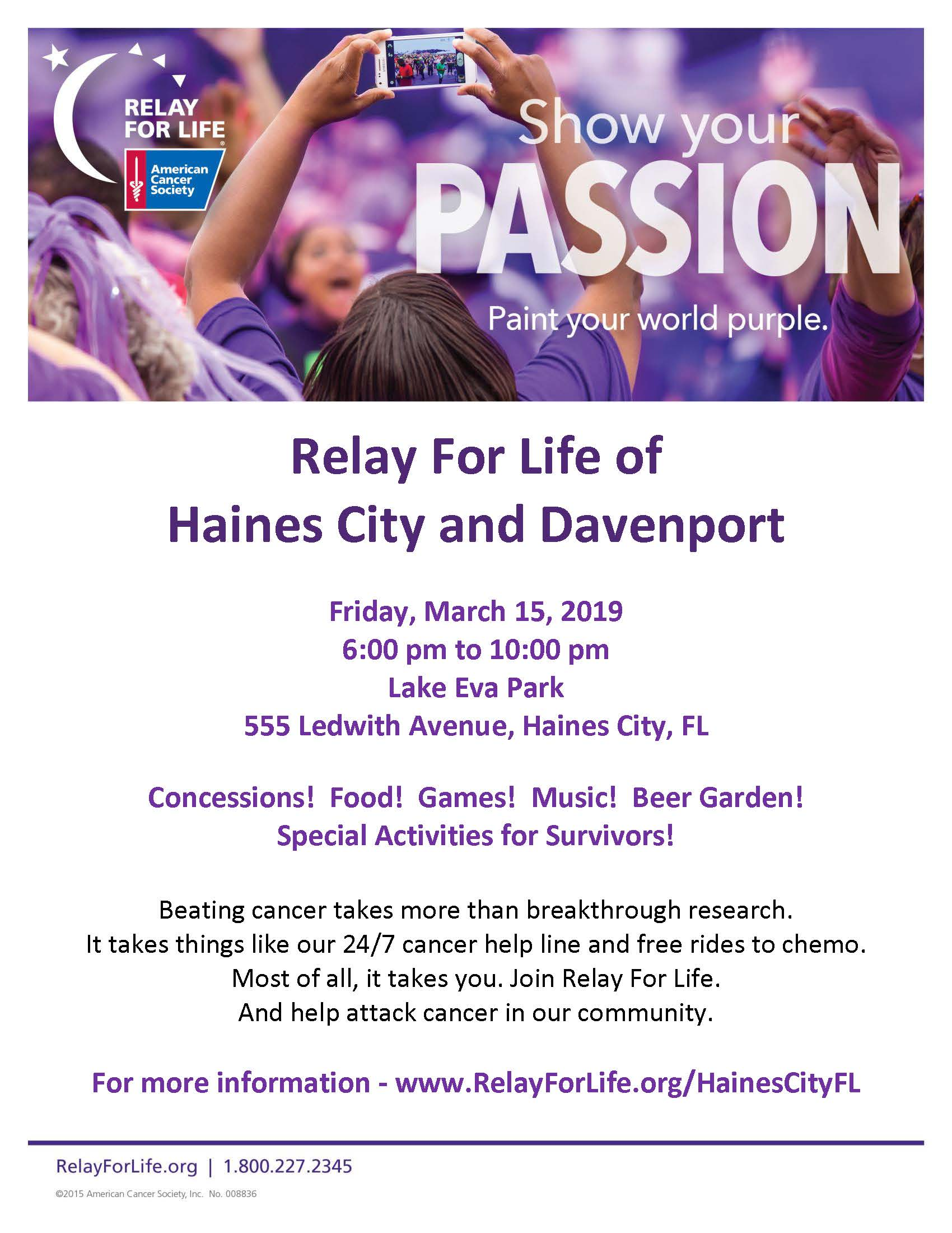 Adv Flyer-Relay For Life Haines City  Davenport (PDF IMAGE)