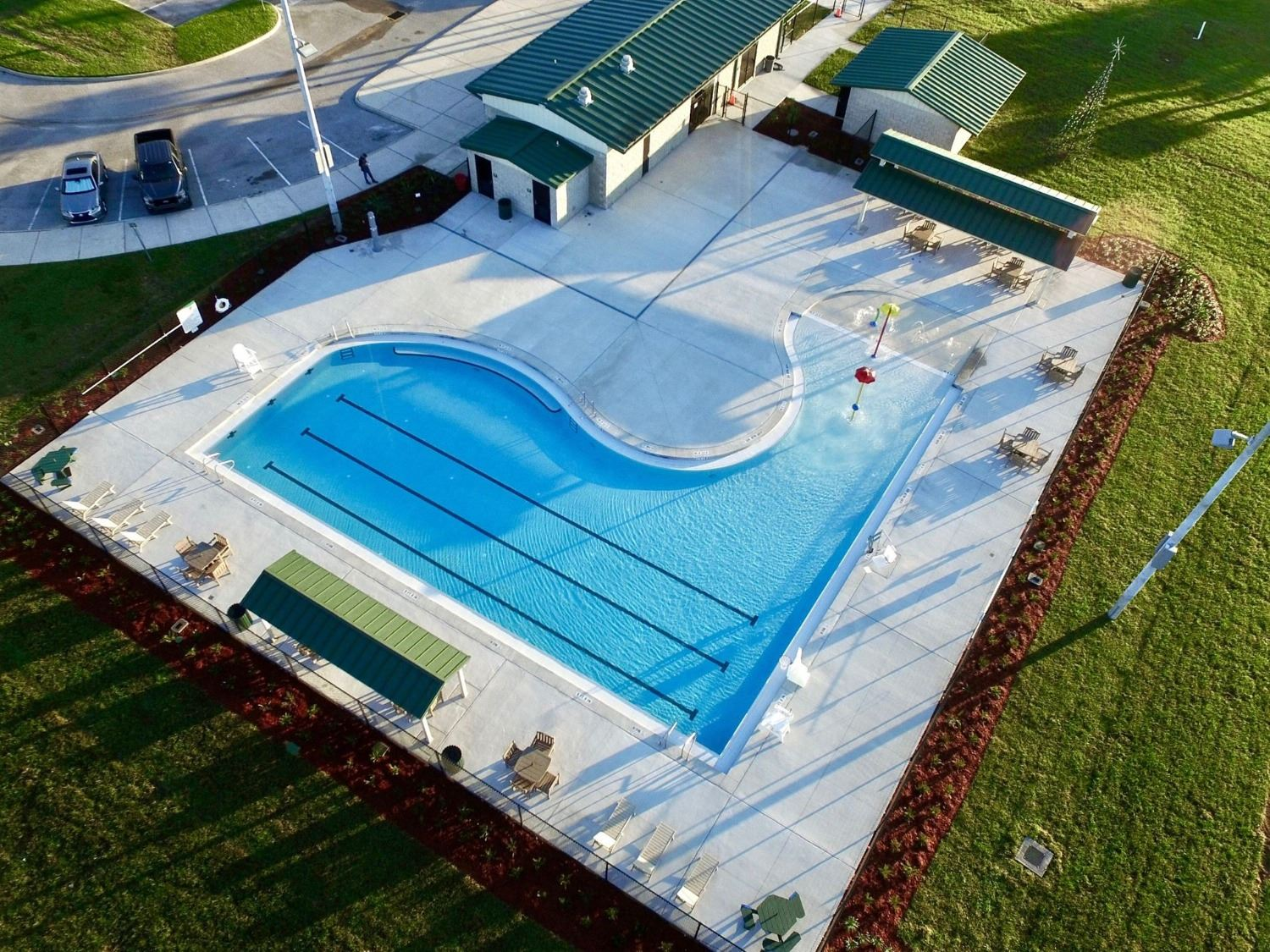 Aerial Photo of Janet J. Smith Aquatics Facility