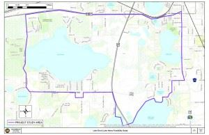 Map of lake eva and lake henry study area