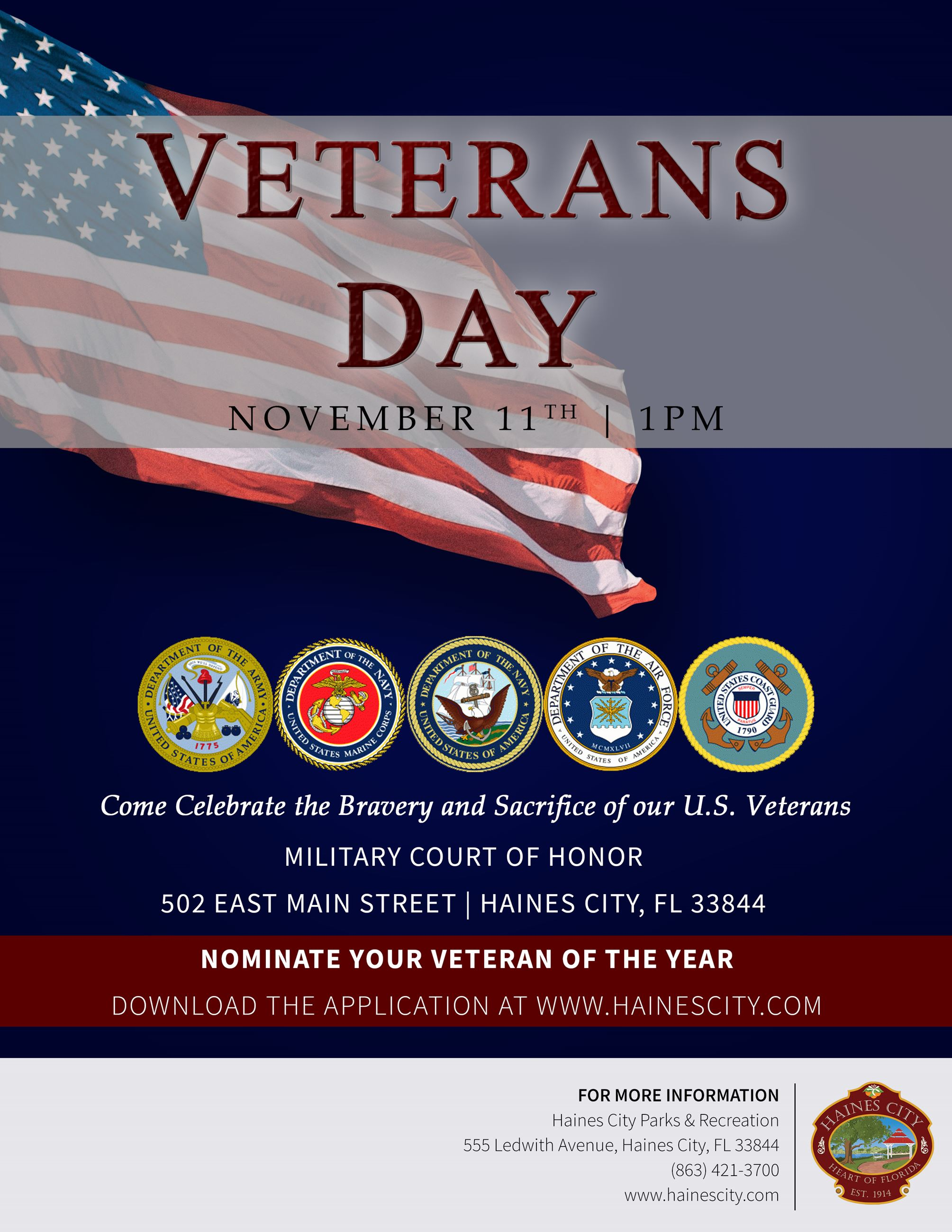 Veterans Day Flyer 2018  (image of flyer)